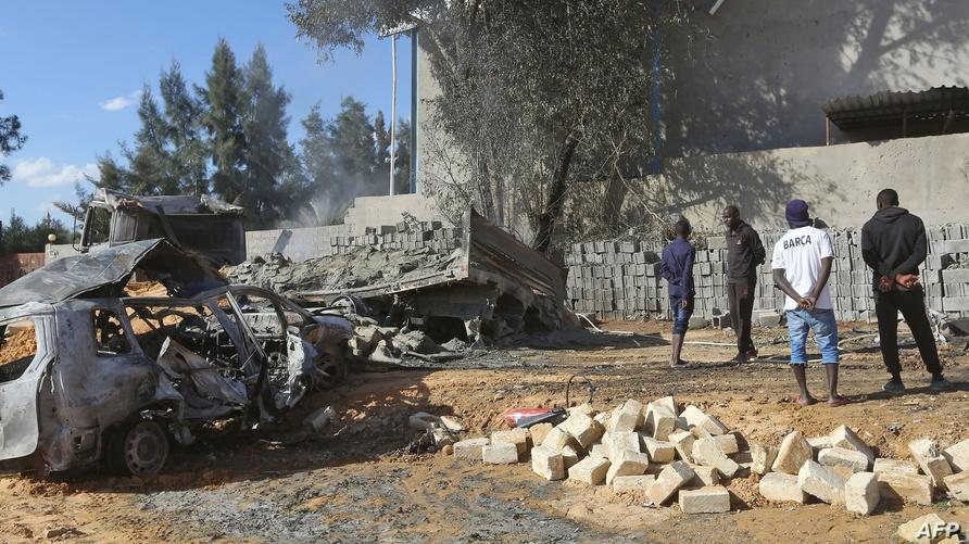 آثار قصف سابق جنوب طرابلس- أرشيف