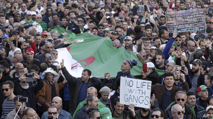 جانب من الحراك الشعبي في الجزائر - أرشيف