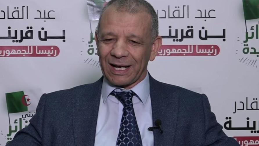 رئيس حركة البناء الوطني والمترشح للرئاسيات الجزائرية عبد القادر بن قرينة