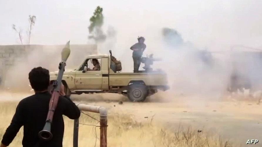 قوات تابعة لخليفة حفتر في ليبيا (أرشيف)