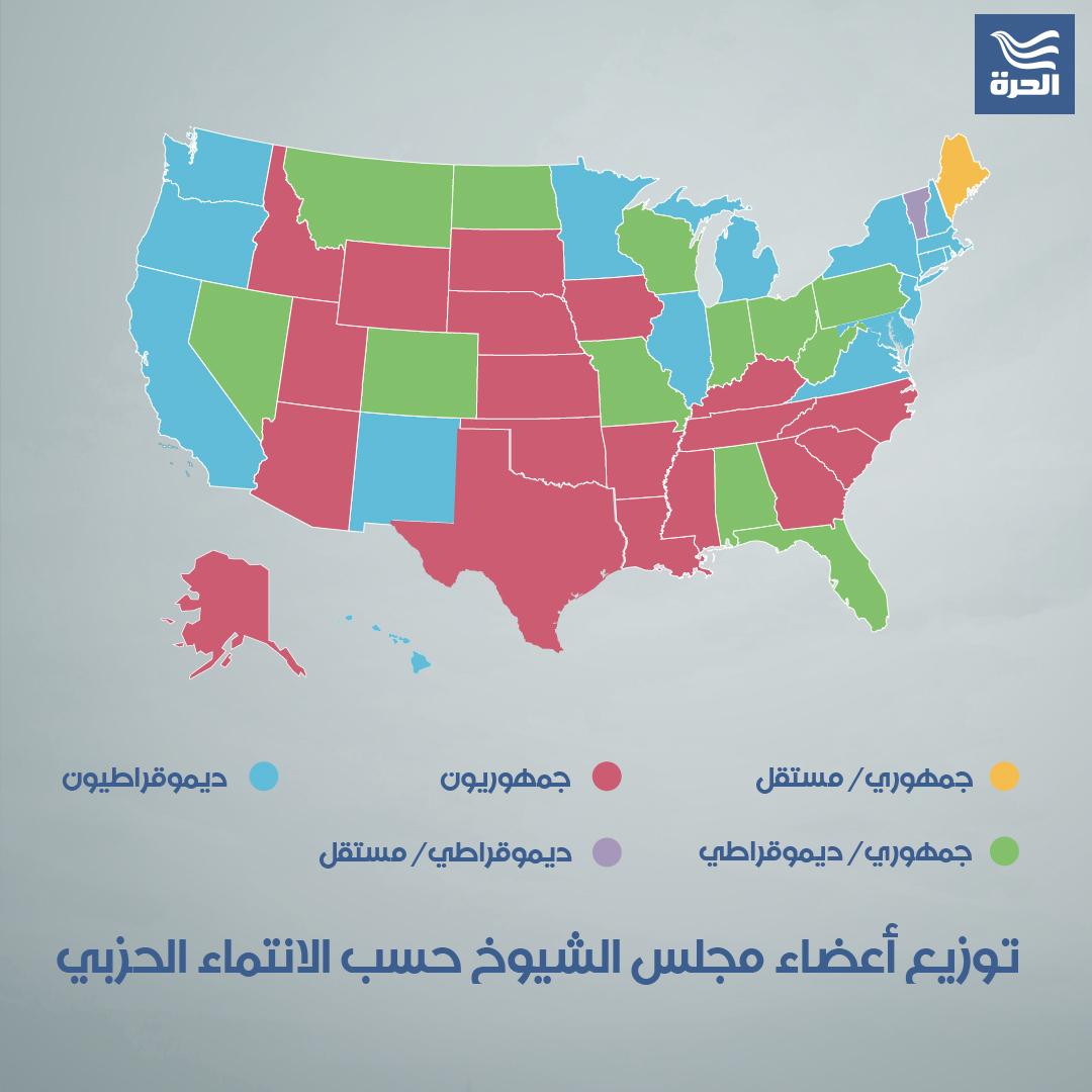خريطة مجلس الشيوخ