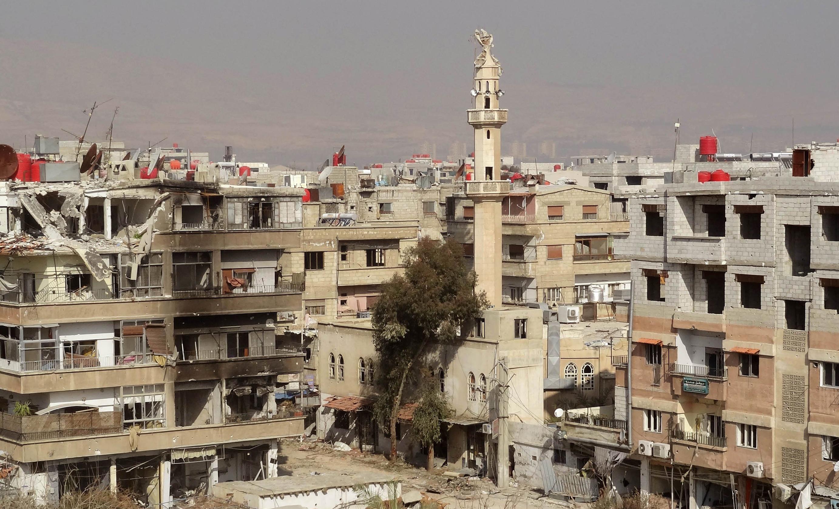 منازل مدمرة في ريف دمشق