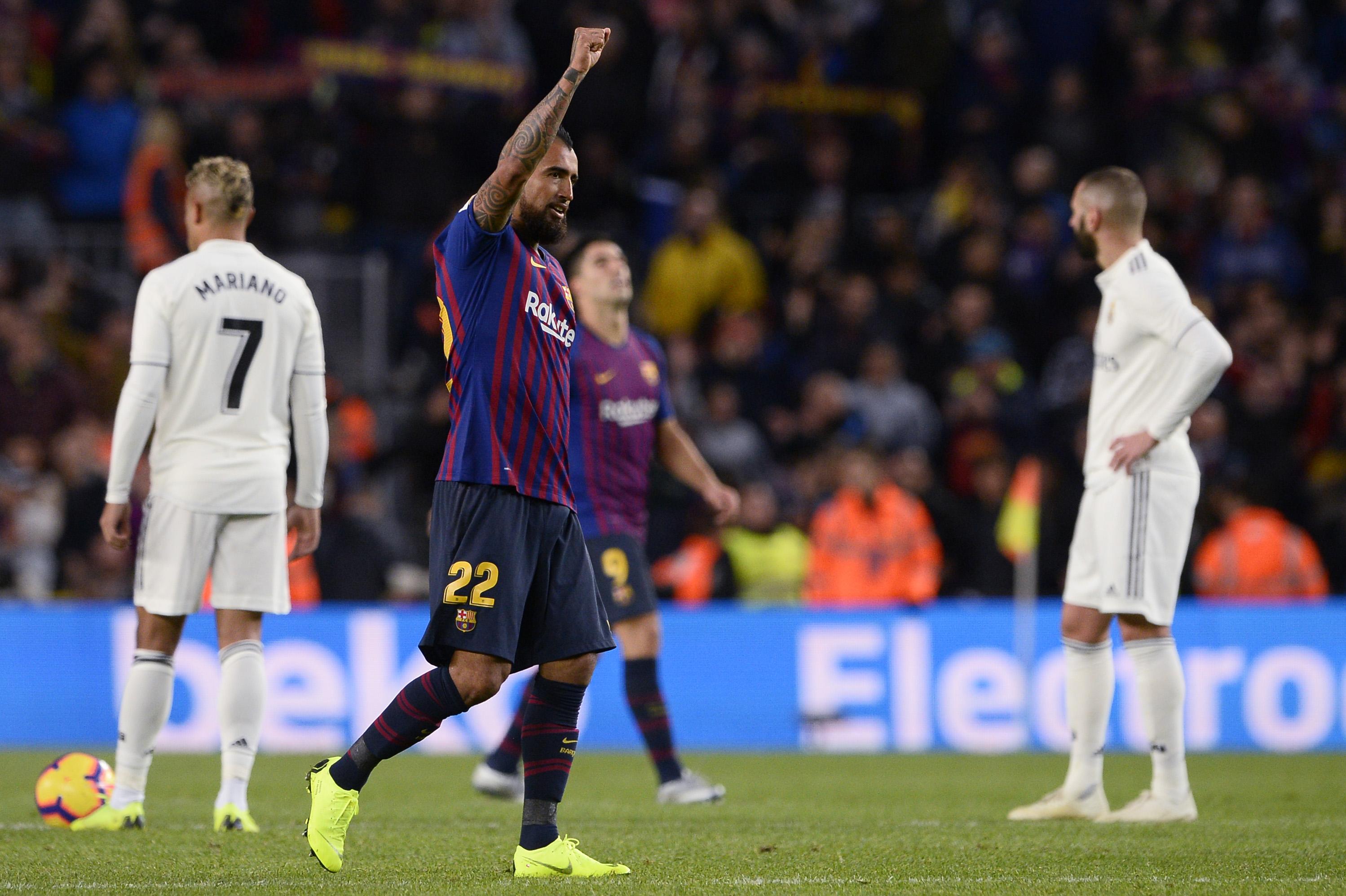 نهاية لقاء ريال وبرشلونة بفوز رفاقء ميسي 5 مقابل هدف وحيد (تشرين الثاني /أكتوبر 2018)