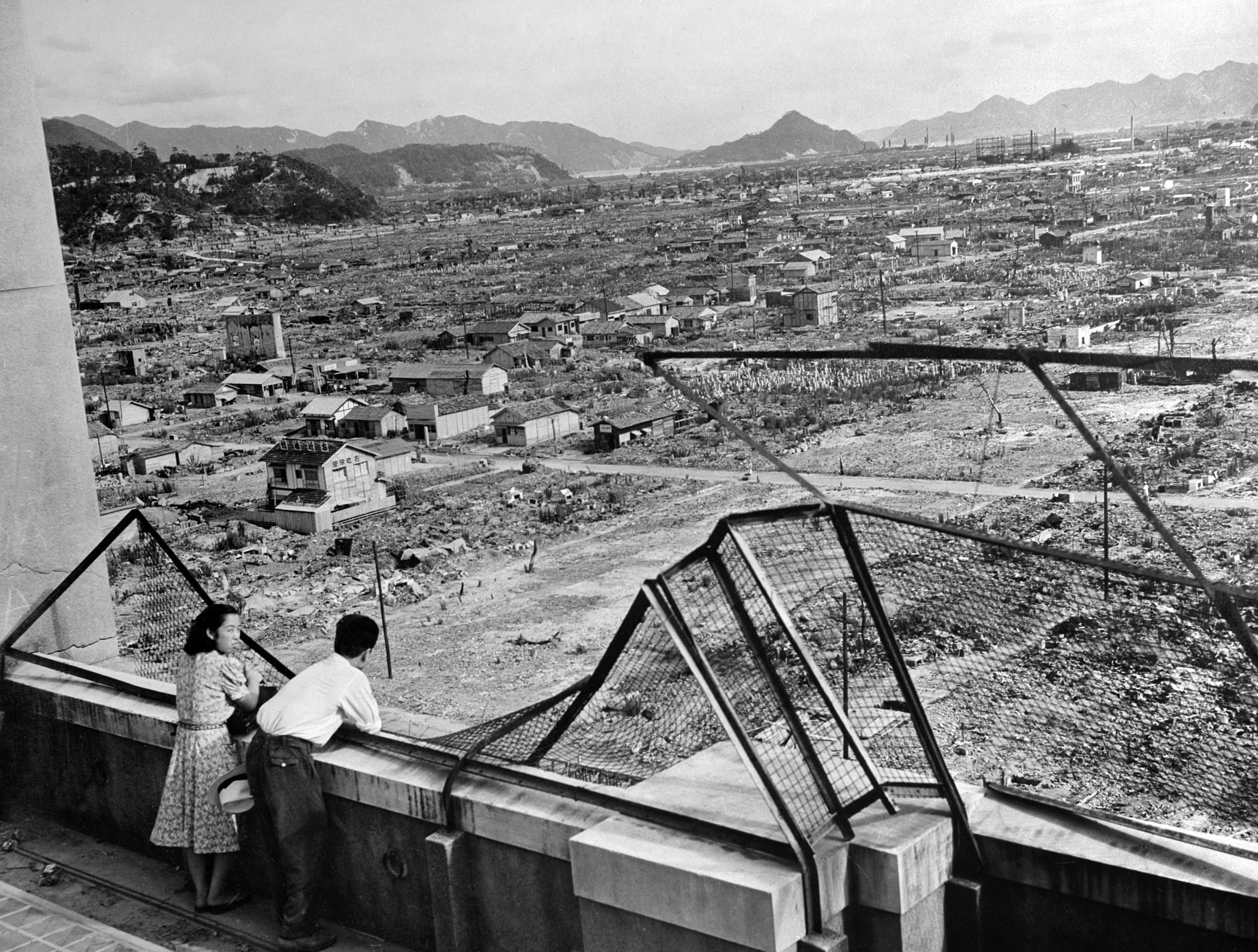 صورة تعود لعام 1948 لمدينة هيروشيما المدمرة