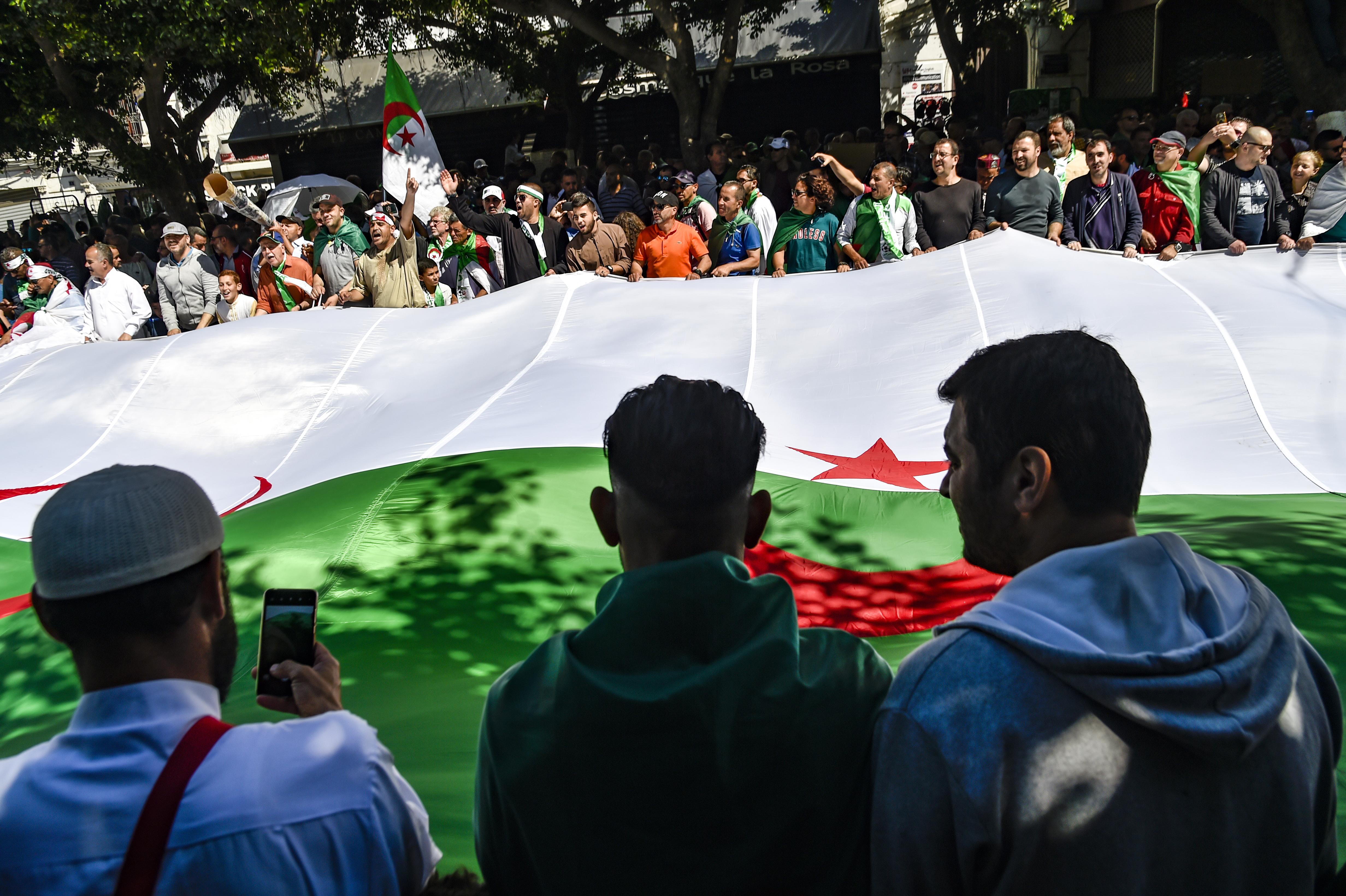 جانب من مظاهرات الجزائر