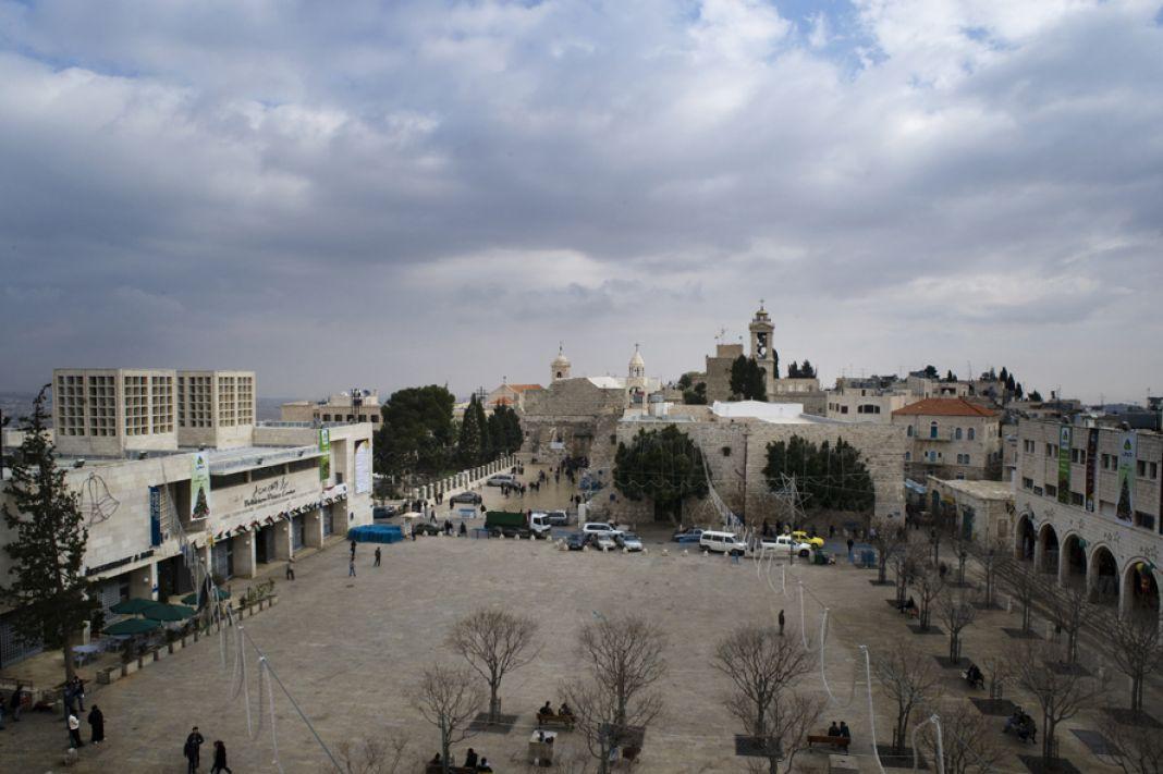 ساحة المهد في بيت لحم_الصورة من موقع بلدية المدينة الإلكتروني