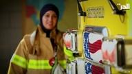 الفلسطينية كيتي أمين هاجرت إلى أميركا طفلة لتصبح ضابطة إطفاء.. تعرف على قصتها