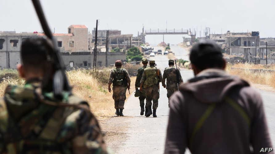 مقاتلون في صفوف النظام السوري- أرشيف