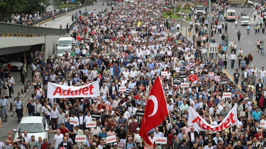 تظاهرة في أنقرة ضد سجن نائب عن حزب الشعب الجمهوري