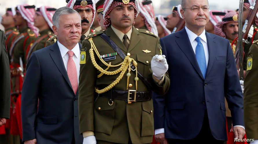 العاهل الأردني والرئيس العراقي في لقاء في نوفمبر الماضي في الأردن