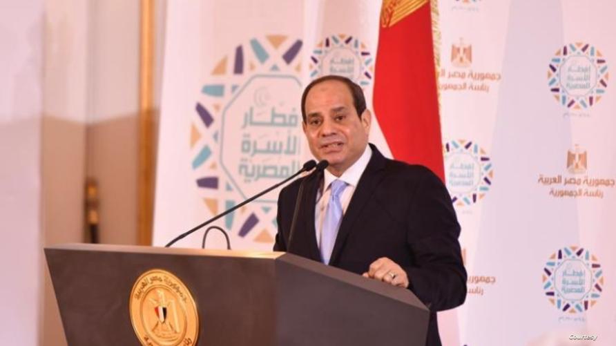 الرئيس المصري عبد الفتاح السيسي خلال إفطار رمضاني بالقاهرة
