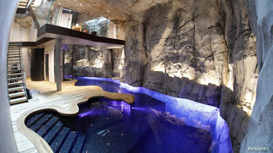 حمام السباحة داخل الفيلا الصديقة للبيئة