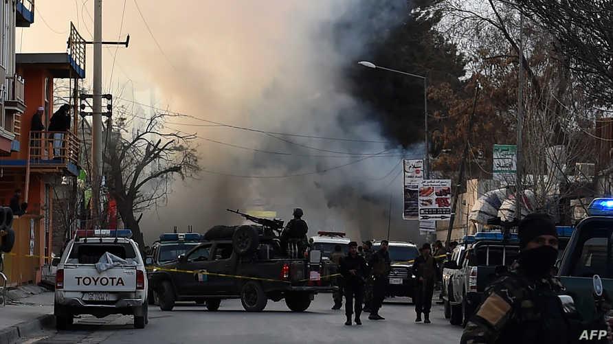 موقع هجوم انتحاري سابق في كابل