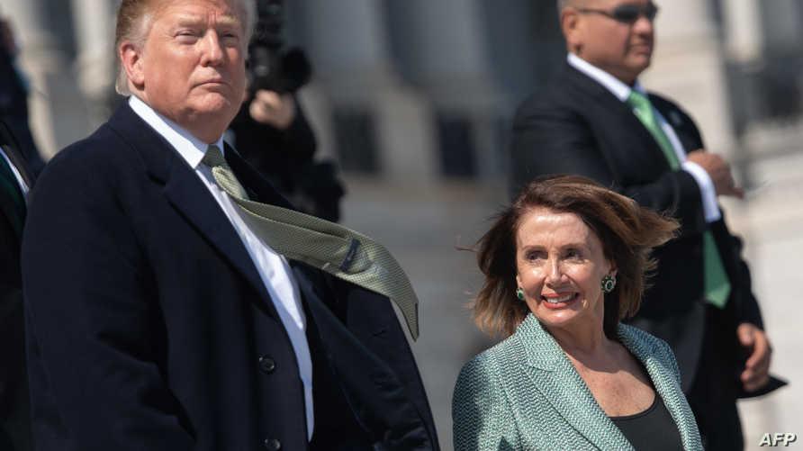 الرئيس دونالد ترامب ورئيسة مجلس النواب نانسي بيلوسي - أرشيف