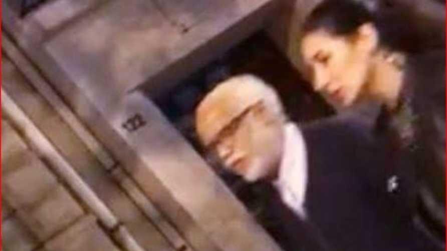 صورة من مقطع الفيديو تظهر يتيم والفتاة