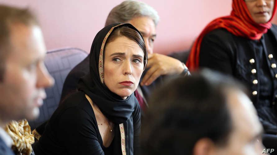 رئيسة الحكومة النيوزيلندية جاسيندا آردرن تعزي أقارب الضحايا