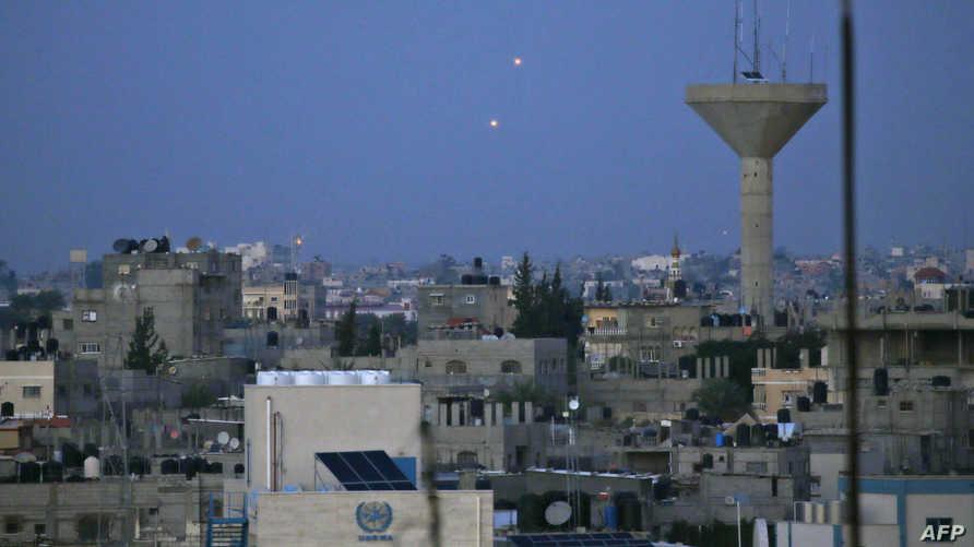 صواريخ أطلقت من غزة باتجاه إسرائيل
