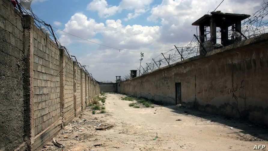 صورة من داخل سجن حلب خلال معارك بين قوات النظام والمعراضة في 2014 - أرشيف
