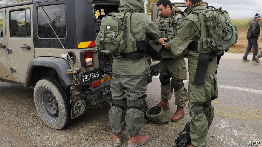 قوة من الجيش الإسرائيلي قرب غزة