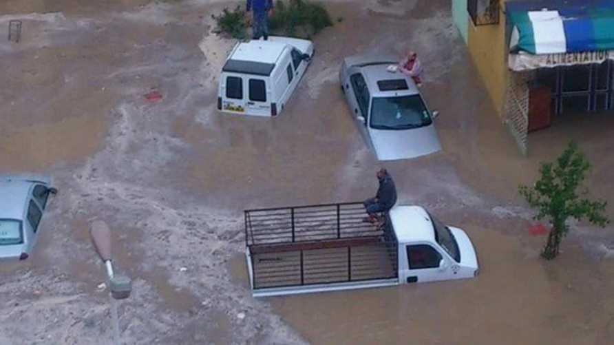 فيضانات في مدينة تبسة الجزائرية - أرشيف