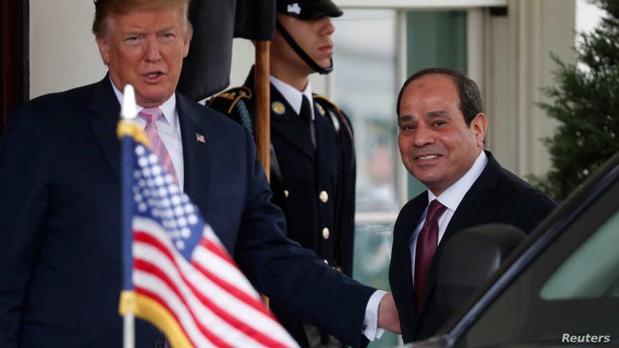 الرئيس ترامب يستقبل نظيره المصري عبد الفتاح السيسي
