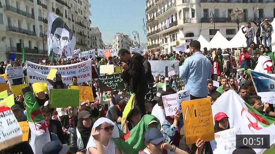 تظاهرات سابقة في الجزائر تطالب بمحاسبة الفاسدين