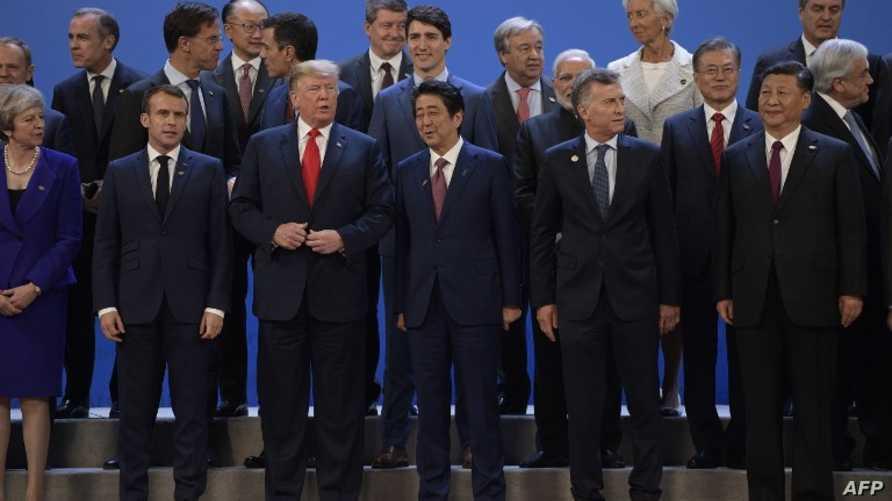 الرئيس ترامب مع عدد من الزعماء بقمة العشرين في الأرجنتين