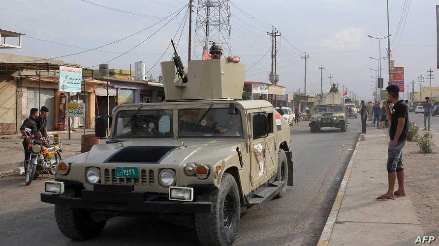 عناصر في الجيش العراقي في الموصل