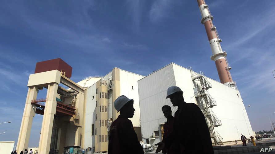 جانب من مفاعل بوشهر الإيراني