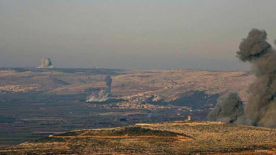 قصف تركي على محيط عفرين شمال سورية