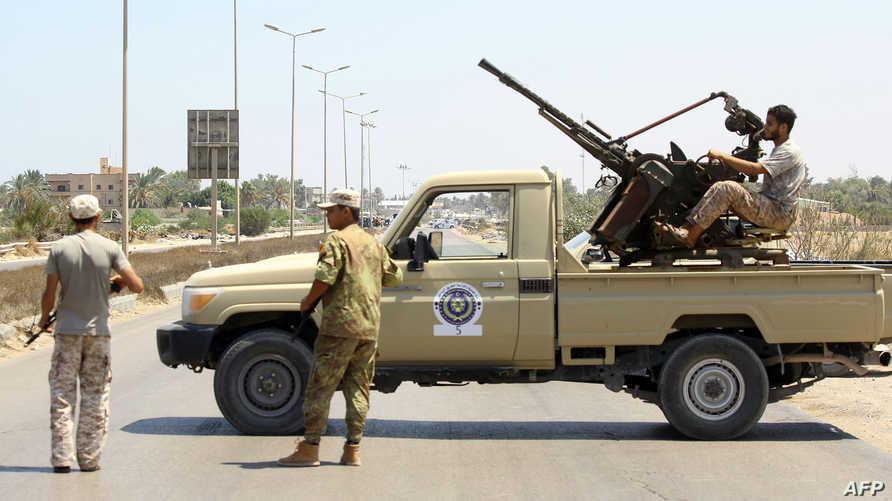 قوات عسكرية قرب طرابلس