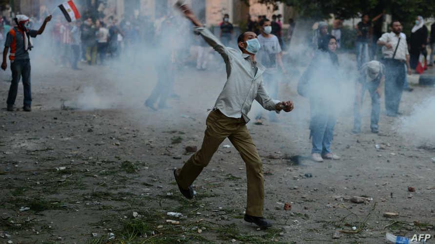 جانب من المظاهرات بالقرب من السفارة الأميركية في القاهرة