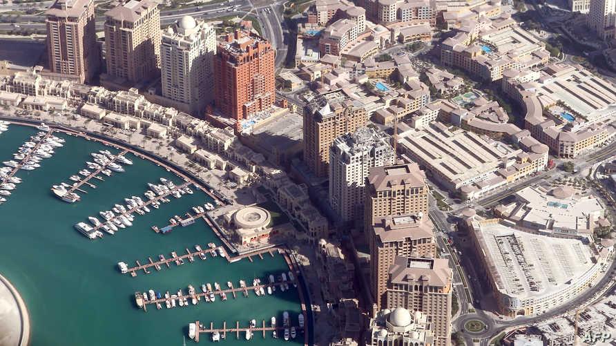 الدوحة من الجو