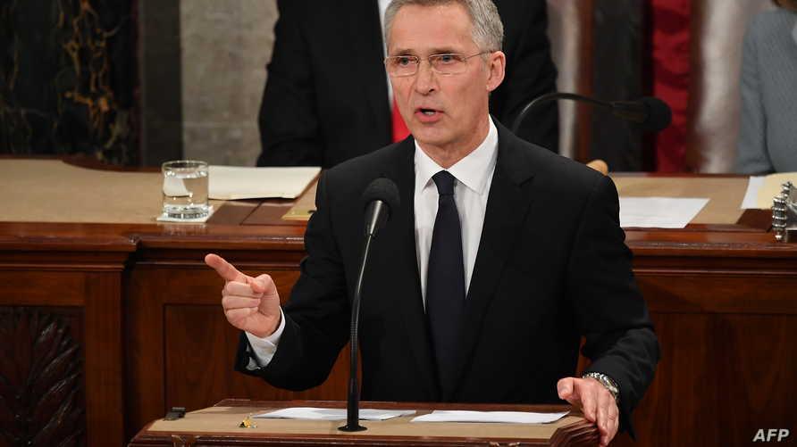 أمين عام حلف شمال الأطلسي ينس ستولتنبرغ في كلمة أمام الكونغرس