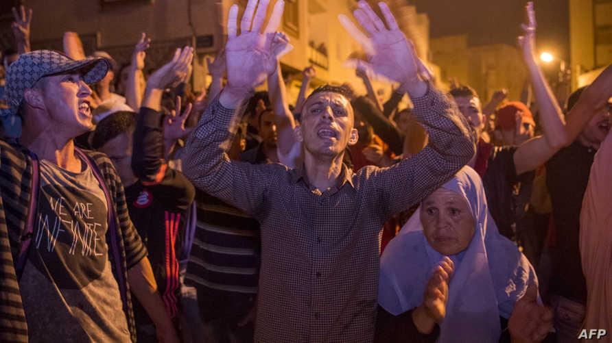 محتجون في الحسيمة