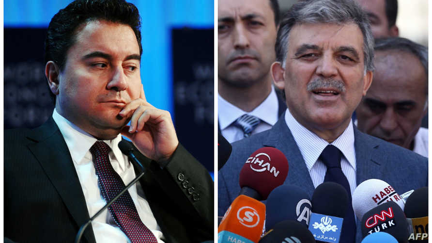 على اليمين  الرئيس التركي الأسبق عبد الله غول/على اليسار وزير الاقتصاد الأسبق علي باباجان
