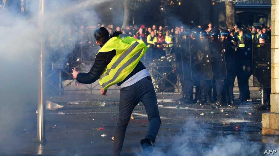 جانب من إحدى المظاهرات في فرنسا