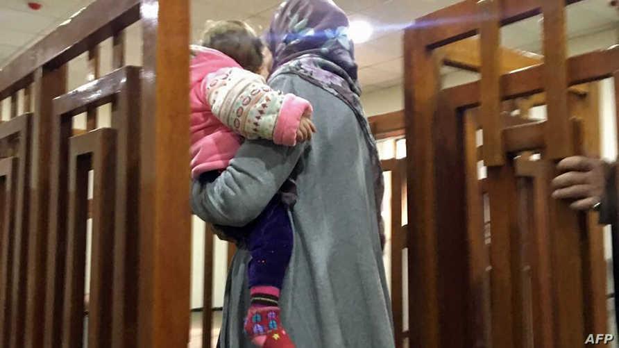 الفرنسية ميلينيا بوغدير خلال جلسة محاكمتها السابقة في العراق