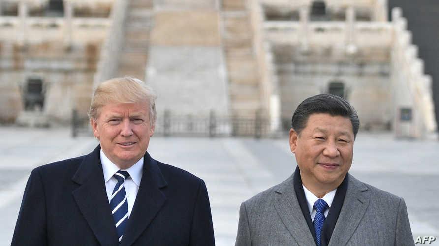 الرئيس دونالد ترامب ونظيره الصيني شي جينبينغ