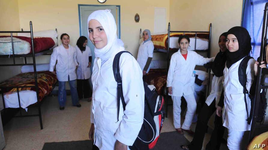 تلميذات في منطقة أوريكا القريبة من مراكش