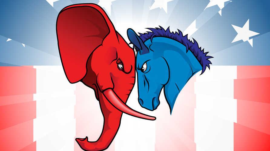مواجهة ساخنة بين الحمار الديموقراطي والفيل الجمهوري في انتخابات الرئاسة