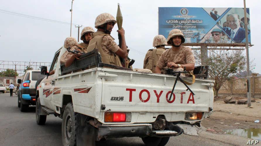 مقاتلون تابعون للانفصاليين في عدن