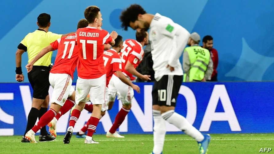 محمد صلاح في مباراة مصر وروسيا بكأس العالم