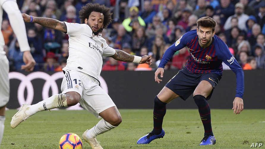 جانب من مباراة برشلونة وريال مدريد في أكتوبر