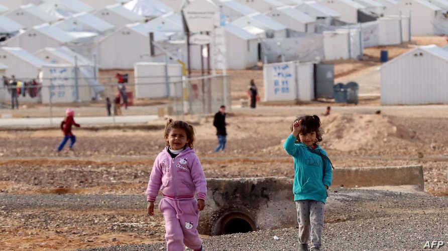 أطفال سوريون في مخيم الزعتري للاجئين- أرشيف