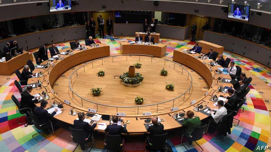 جانب من اجتماع سابق لأعضاء الاتحاد الأوروبي