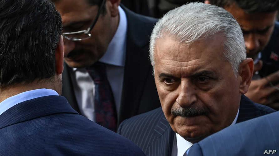 رئيس الوزراء السابق ومرشح العدالة والتنمية الخاسر في انتخابات المحليات بإسطنبول، بن علي يلدريم.