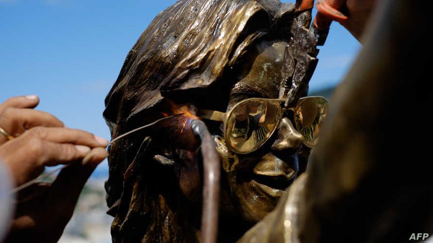 تمثال لمايكل جاكسون في البرازيل