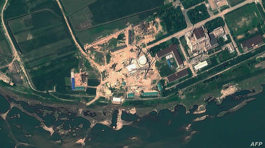 صورة بالأقمار الاصطناعية لمركز الأبحاث النووية بمجمع يونغبيون