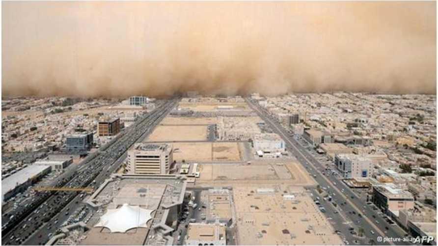 ارتفاع معدلات تلوث الهواء في مدينة الرياض-أرشيف